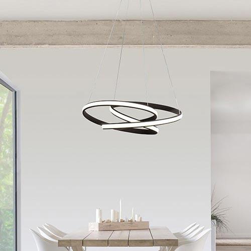 Illuminazione del soggiorno con lampadario Sikrea Giove 2406