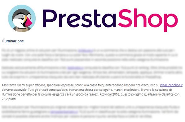 I migliori 3 siti di illuminazione-italiani secondo Prestashop